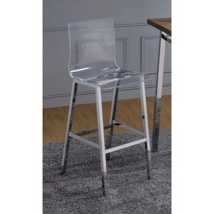 St. Charles Metal Base Bar Stool (Set of 2) Orren Ellis