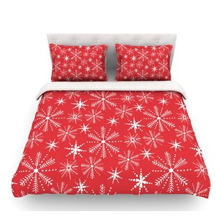Snowflake Berry by Julie Hamilton Holiday Featherweight Duvet Cover
