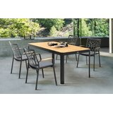 Portals Outdoor 5 Piece Teak Dining Set with Cushions