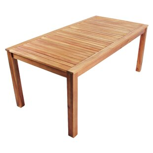 Banda Wooden Dining Table By Sol 72 Outdoor