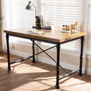Affordable Alexandre Vintage Rustic Industrial Desk ByWilliston Forge
