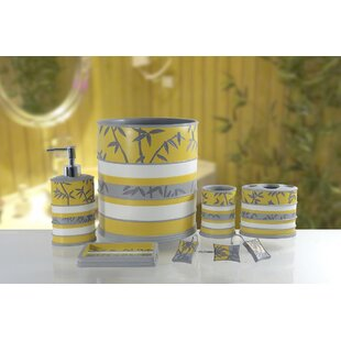 Yellow And Grey Bathroom Accessories. Save