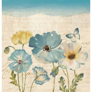 Red Barrel Studio Argelia Water Color Poppies Shower Curtain