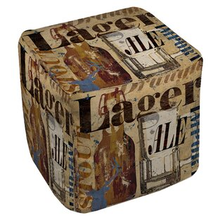 Old Lager Pouf by Manual Woodw..