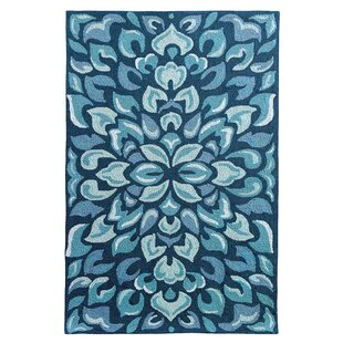 Petal Pusher Mineral Blue Indoor/Outdoor Area Rug