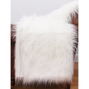 White Mongolian Fur Chair | Wayfair