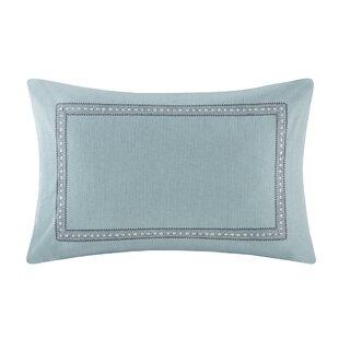Larissa Embroidered Cotton Lumbar Pillow