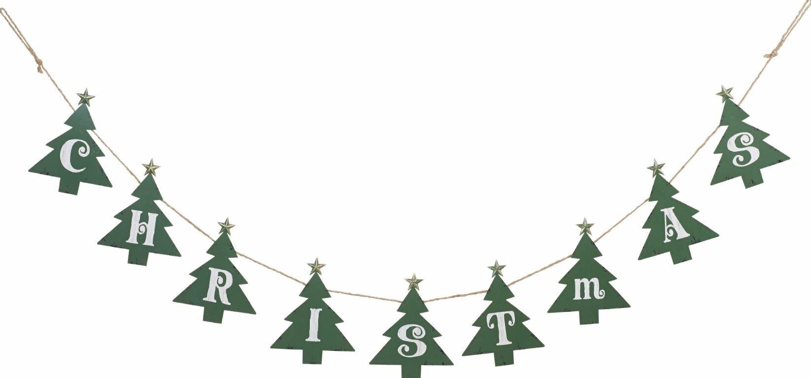 metal christmas tree banner - Metal Christmas Tree
