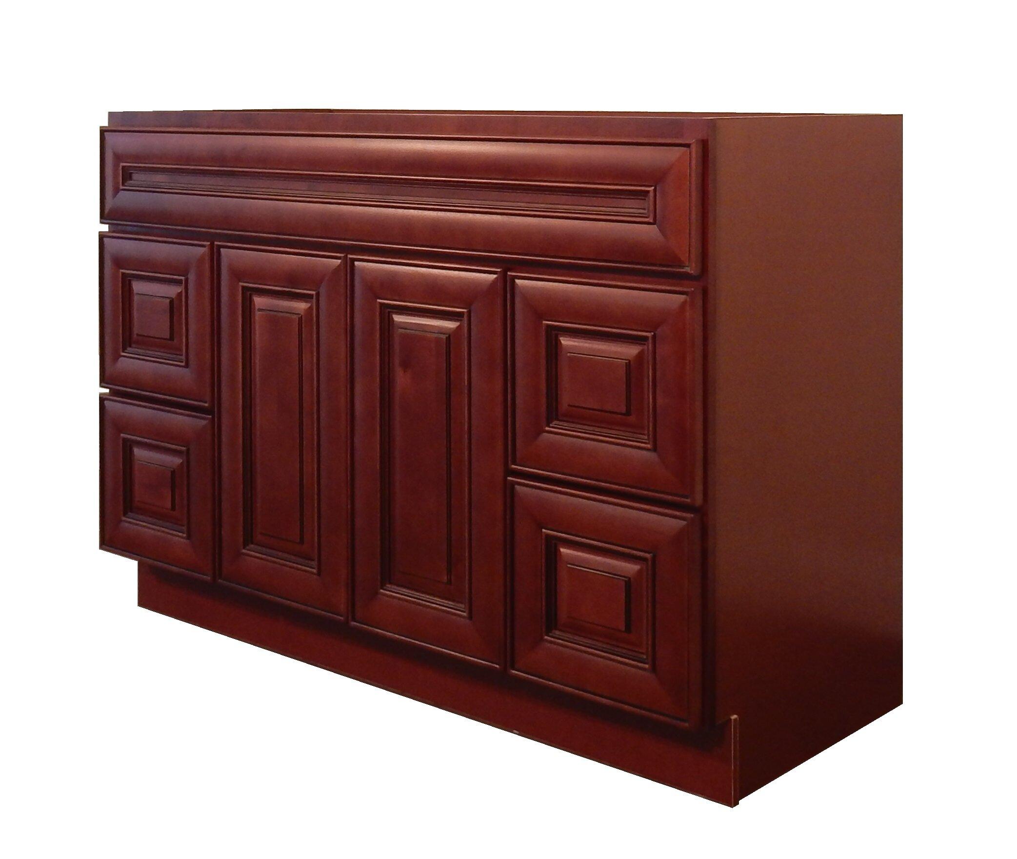 NGY Stone U0026 Cabinet Maple 60u201d Single Bathroom Vanity Base | Wayfair