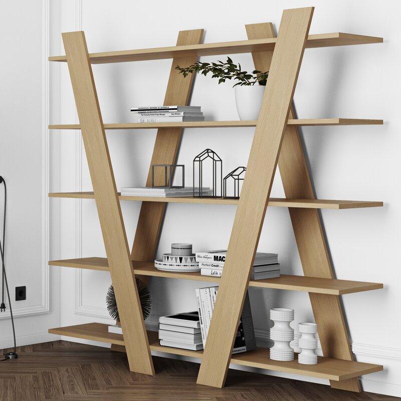 Brayden Studio Ashmore Etagere Bookcase Wayfair