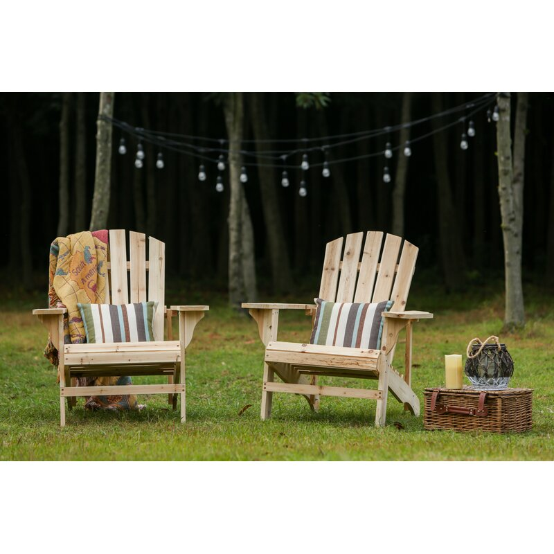 Genial Steadman Solid Wood Adirondack Chair