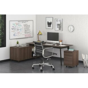 Holmes Modern Executive 2 Piece L-Shape Desk Office Set by Comm Office 2019 Sale