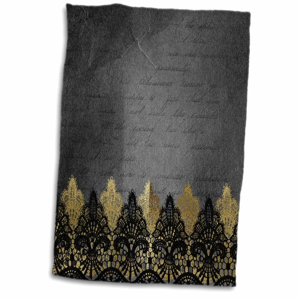 East Urban Home Gavin Lace On Victorian Grunge Paper Hand Towel Wayfair