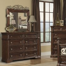Handover 8 Drawer Double Dresser with Mirror
