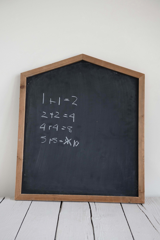 Round Wooden Hanging Heart Blackboard ~ Wooden Heart Kitchen Chalkboard