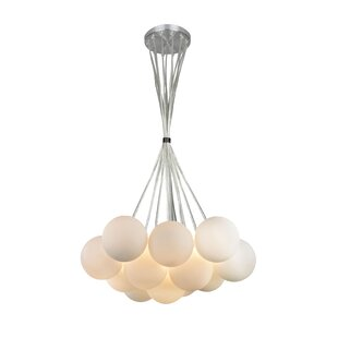 Inexpensive Cloud 13-Light Cluster Pendant By EQLight