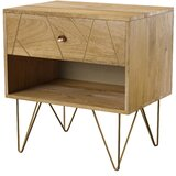 Marigold 1 - Drawer Solid Wood Nightstand in Natural by Mercury Row