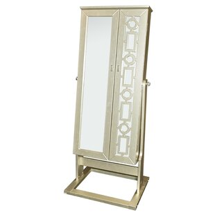 Darby Home Co Cristobal Cheval Jewelry Armoire with Mirror