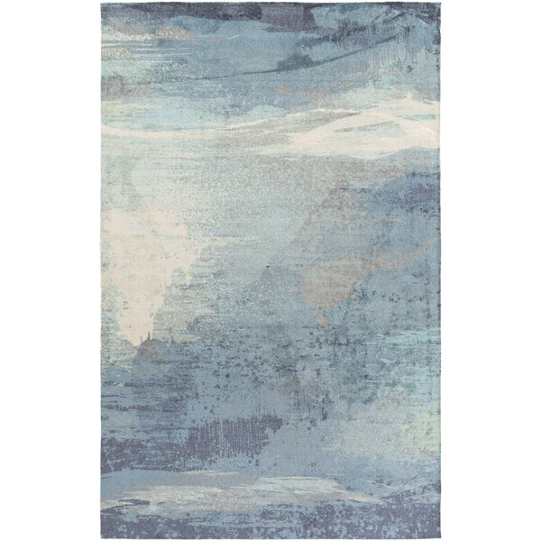 brayden studio greenlee blue/gray area rug & reviews | wayfair