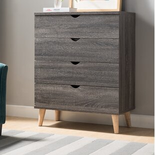Bowie 4 Drawer Standard Chest by Trule Teen