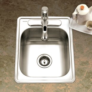 Medium image of glowtone ada compliant 22 x 17 topmount single bowl gauge kitchen sink