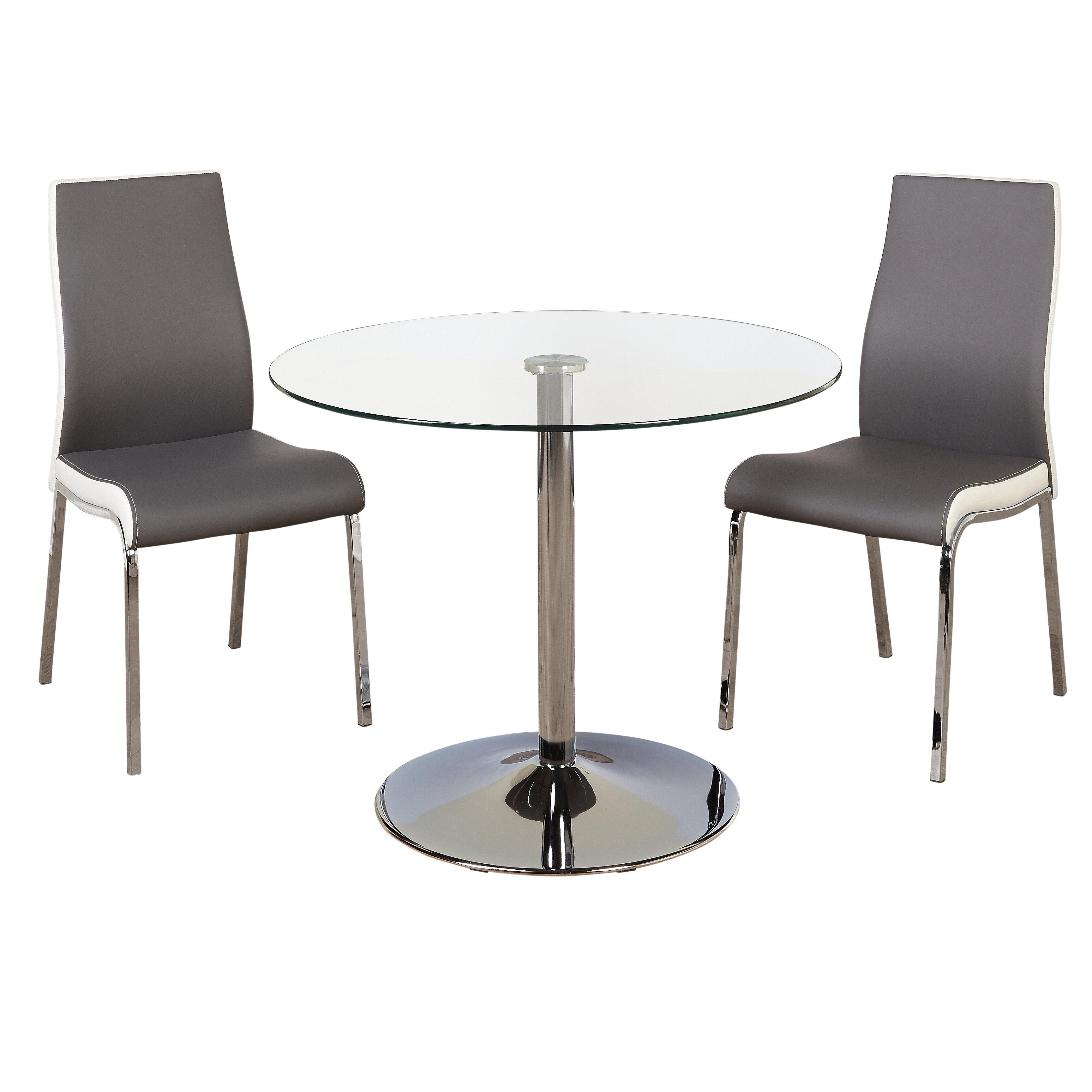 Pleasing Salerno 3 Piece Dining Set Creativecarmelina Interior Chair Design Creativecarmelinacom
