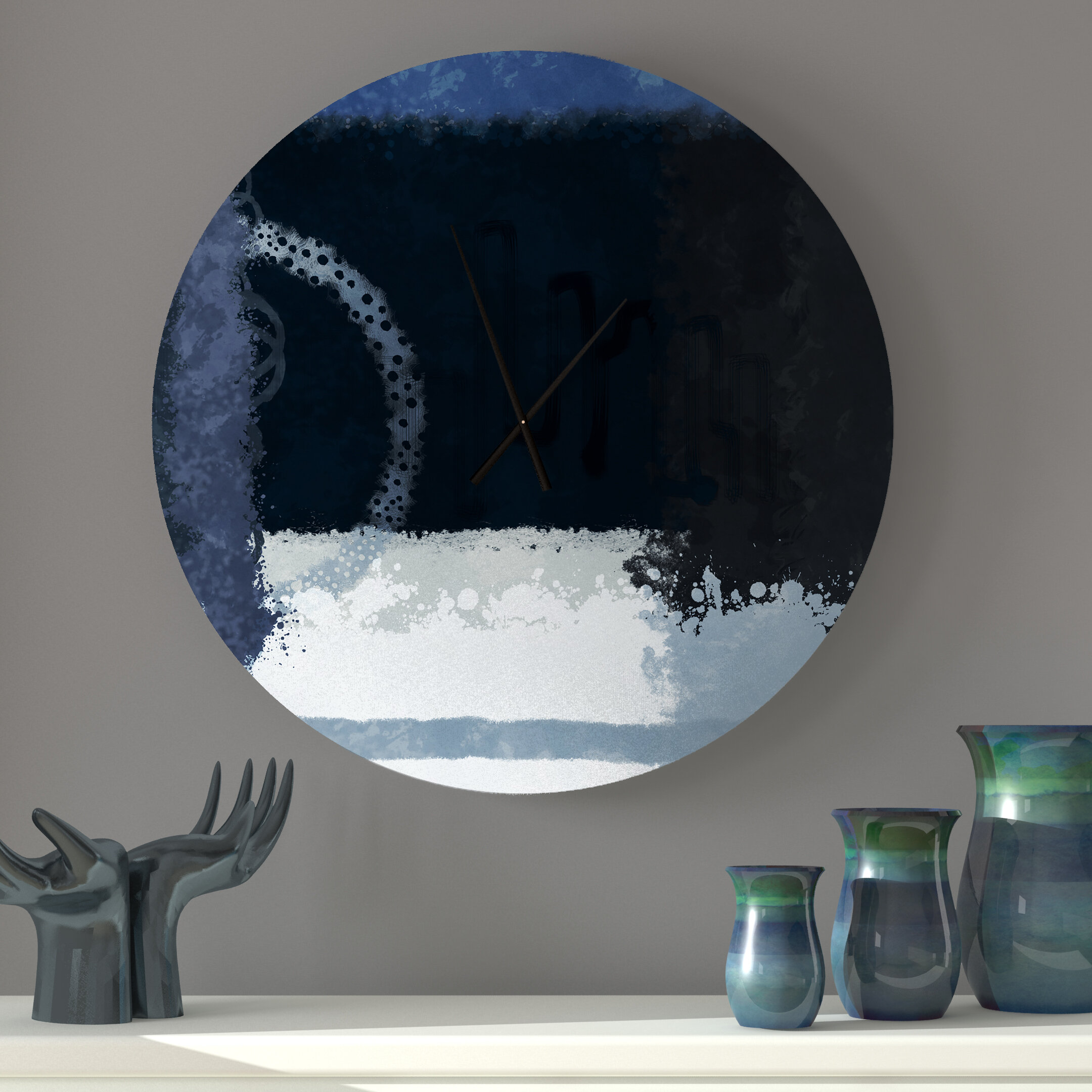 Ebern Designs Loula Wall Clock Wayfair