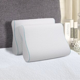 Comforest Contour Dual Sided Memory Foam Pillow (Set of 2)