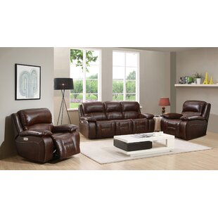 Online Reviews Westminster II Reclining  Leather 3 Piece Living Room by HYDELINE Reviews (2019) & Buyer's Guide
