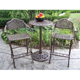 Oakland Living Mississippi 3 Piece Bar Height Dining Set