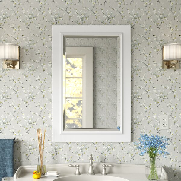 Wood Trim Bathroom Mirror Wayfair