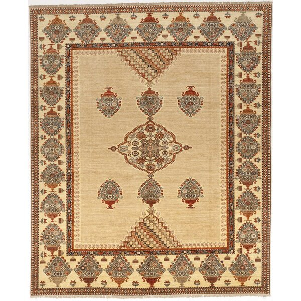 Strahan Luxury Hand Knotted Wool Yellow Rust Area Rug