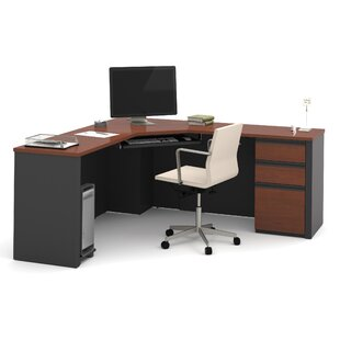 Kenworthy Reversible Corner Executive Desk With Pedestal by Ebern Designs New