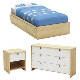 Top Reviews Cookie Twin Platform Configurable Bedroom Set BySouth Shore