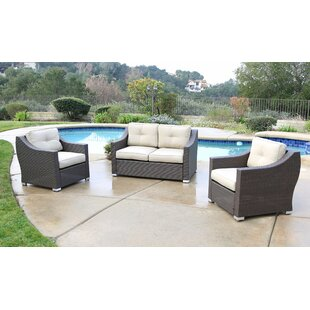 Leib 3 Piece Sofa Set with Cushion
