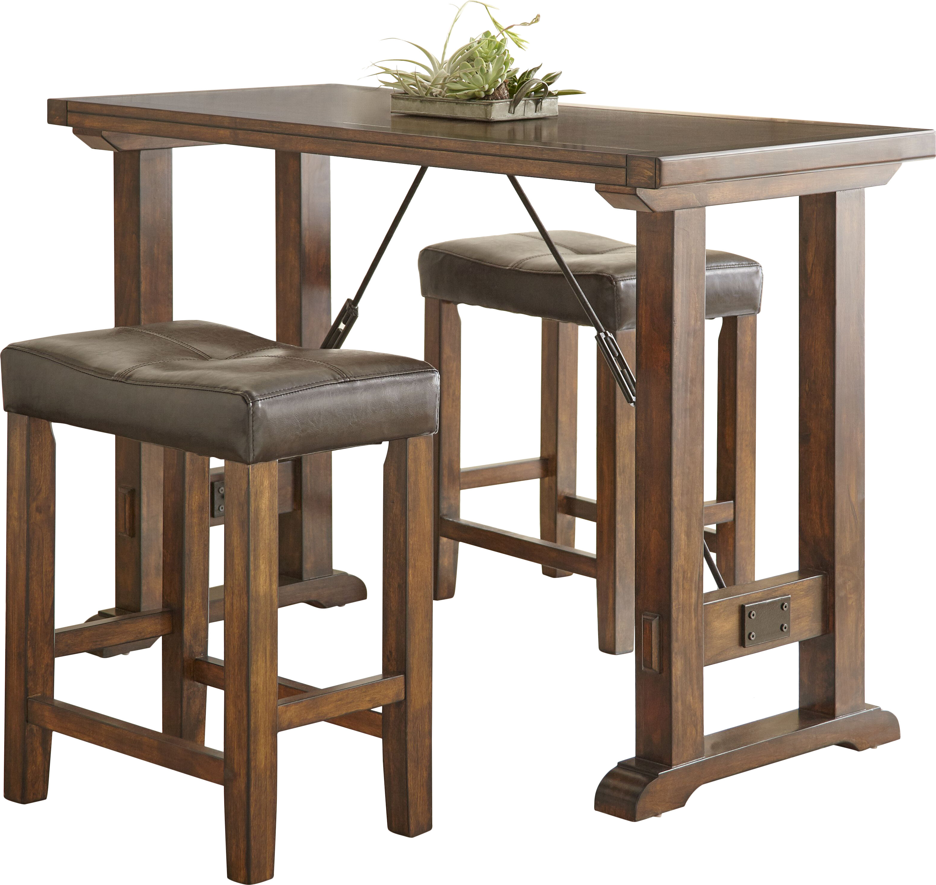 Alcott Hill Adams Northwest 3 Piece Counter Height Dining Set U0026 Reviews |  Wayfair