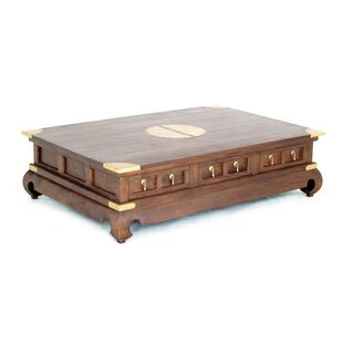 Becky Fine Handcrafted Solid Mahogany Wood Coffee Table Bloomsbury Market