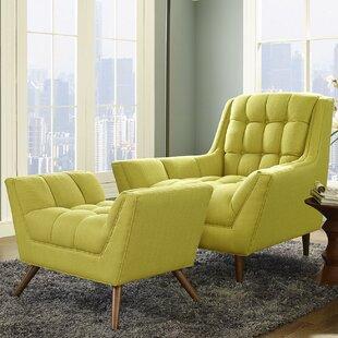 Ivy Bronx Freeborn Armchair with Ottoman