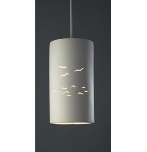 Bay Isle Home Sandpiper 1 Light Cylinder Pendant