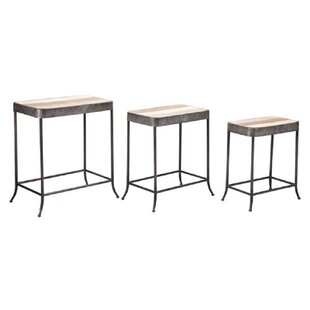 17 Stories Lomeli 3 Piece Nesting Tables