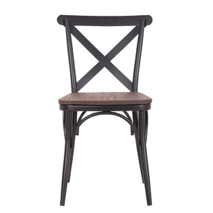 Quam Cross Back Dining Chair (Set of 2) by Gracie Oaks