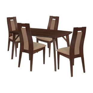 Stephen 5 Piece Solid Wood Dining Set by Ebern Designs