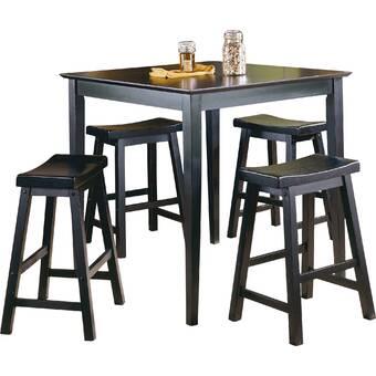 17 Stories Mccandless 5 Piece Counter Height Dining Set Wayfair