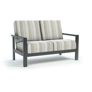 Friend Trusted Fog Loveseat with Sunbrella Cushions by Breakwater Bay