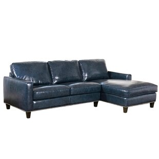 Samatha Leather Sectional by Darby Home Co #1