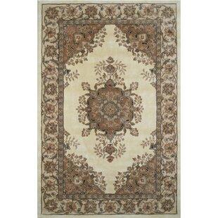 American Home Clic Persian Kerman Ivory Beige Area Rug