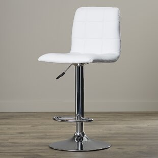 Galvan Adjustable Height Bar Stool by Wade Logan