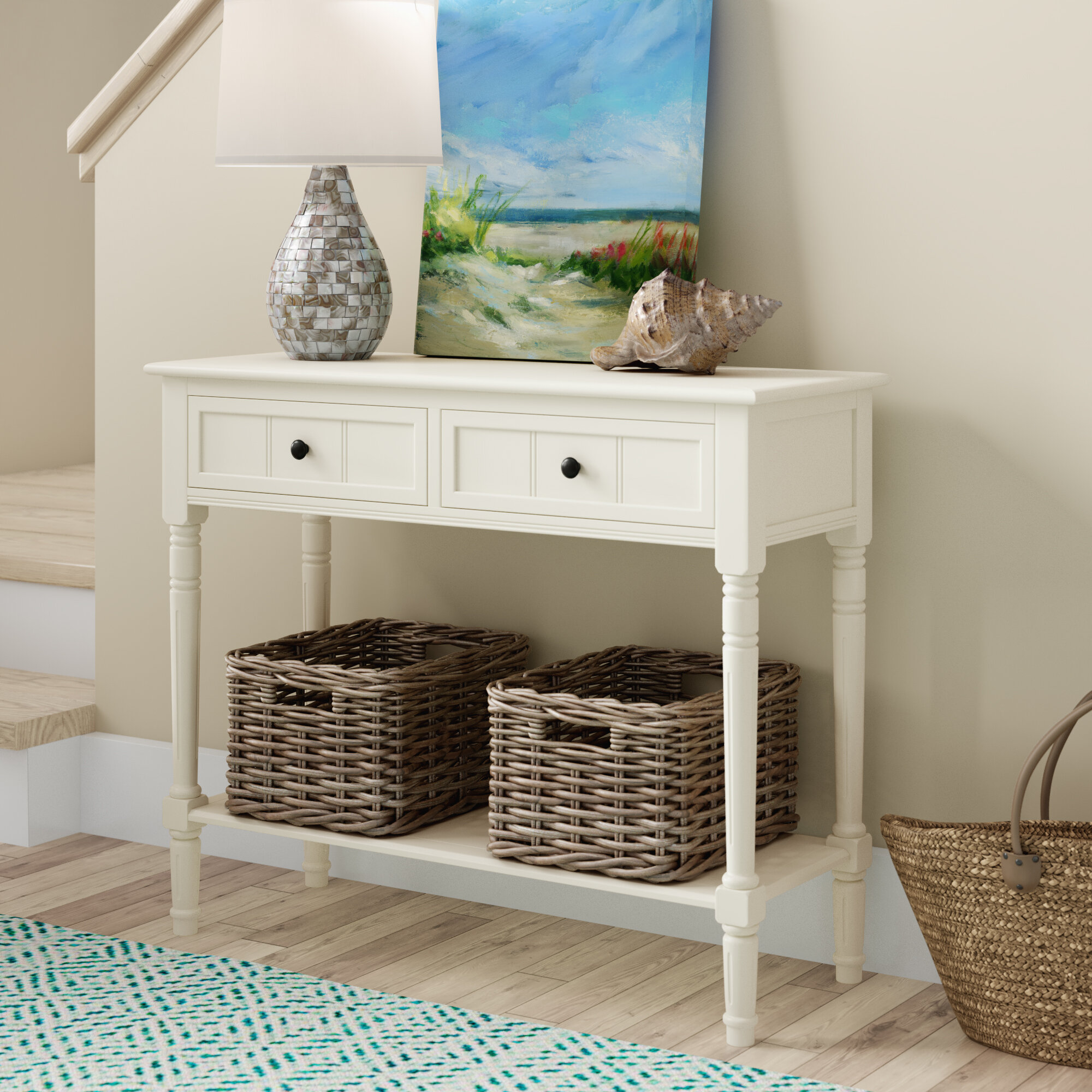 Beachcrest Home Regan 35 8 Solid Wood Console Table Reviews Wayfair