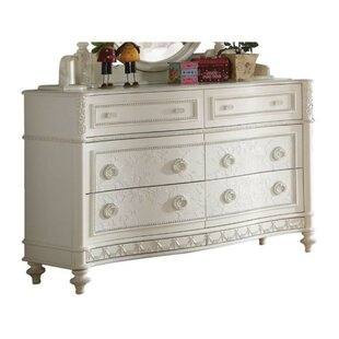 Greenview Wood 6 Drawer Double Dresser