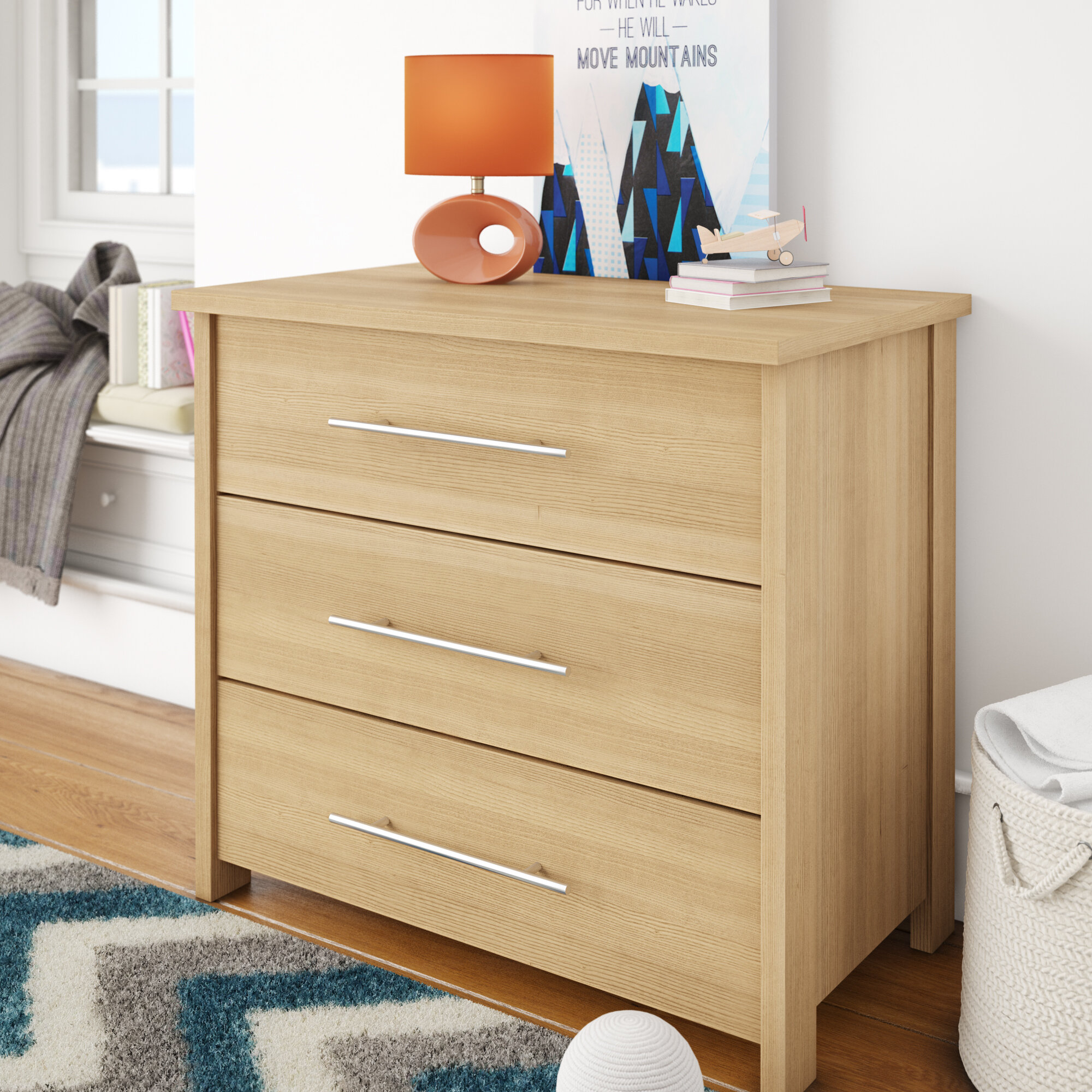 Milo Rasalhague 3 Drawer Dresser